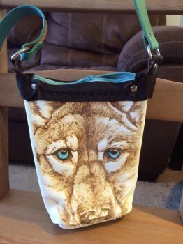 Leather wolf cell phone purse by Katiefiorito