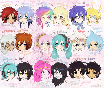 all my feelings for all my OTP'S by KiraiRei