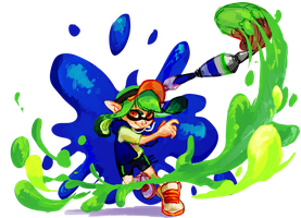 Splatoon Inkbrush by ALF-L
