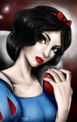 Snow White. Halloween version by Junica-Hots