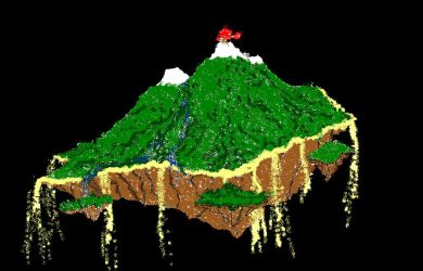 Floating Island on Paint by BlossoMage