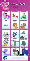 MLP:FiM Favorites Meme by Nyxity