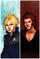 Cloud Axel Con Bookmarks by psycho-kitty