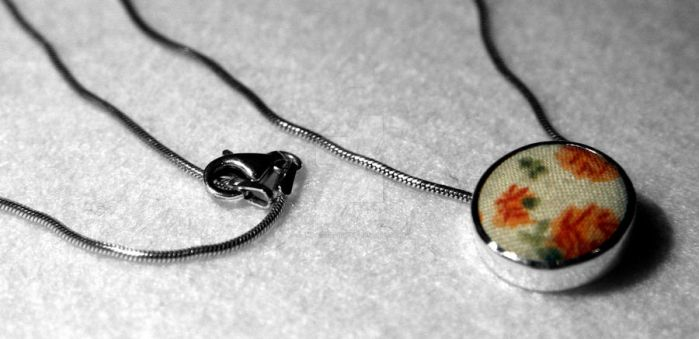 Floral Army Necklace by emily-strange