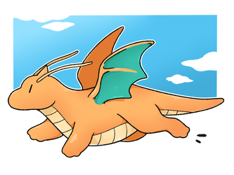 Dragonite by LexisSketches
