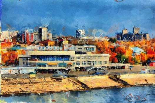 Barnaul. View on Riverport by Artgenii