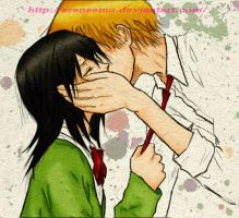 Kaichou wa maid-sama KISS :* (colored) by eReneeMo