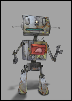 Sad Robot by E1design