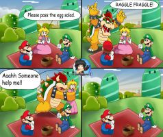 A normal day in the mushroom kingdom by Patdarux