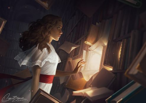 The Reader by Charlie-Bowater