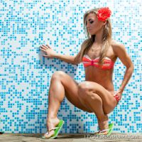 BBC, Big Beautiful Calves of Bikini Clad Sofia by LegsEmporium