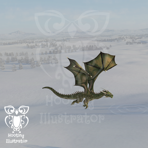 Dragon for Monthly art challenge by sepdra