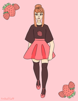 strawberry girl by Tinkalila