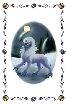 Absol Postcard by AndrePaz