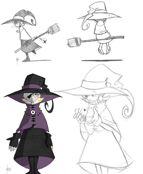 A Witch by Inverted-Mind-Inc