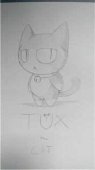 Tux the Cat(traditional) by KittyMelodies