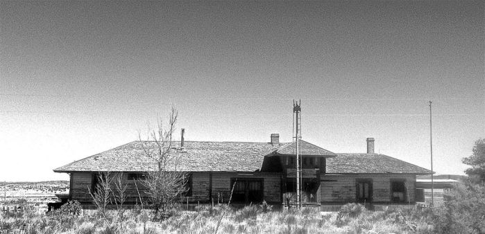 Abandoned Railway Station Ancho NM by Foppotee