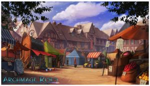 Archmage Rises - The Market by RogierB