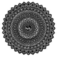 Stippled Mountains Mandala by WelshPixie