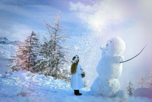 My Friend Snowman the Magician by annewipf