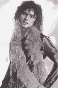 Marc Bolan (T.Rex) Pencil Drawing by mchurchill1982
