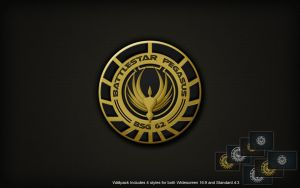 BSG Pegasus Logo Wall by SKoriginals