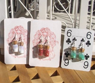 bottle earrings by maria-neiti