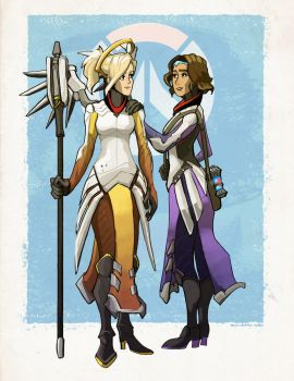 Mercy and the Valkyrie by ellisari