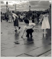 Playing in the rain by daaram