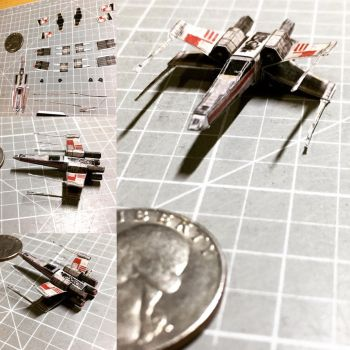 Micro Star Wars X-Wing fighter by otherwld