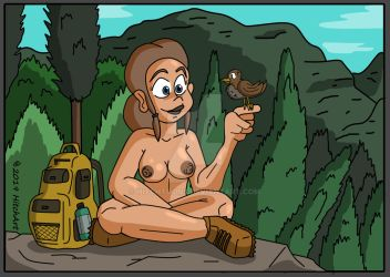 One With Nature - Nudist Edition by HitchArt