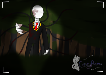 Creeptober day 3 the man among trees by TheoAnime