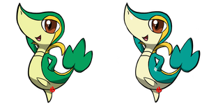 Pokemon #495 - Snivy by Fyreglyphs