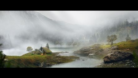 matte painting_solitary by Areart
