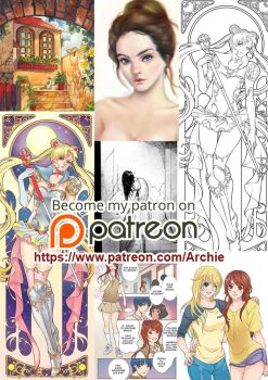 Patreon September Rewards by Archie-The-RedCat