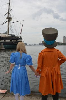 Alice and hatter by Iris-Iridescence