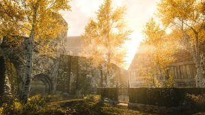 Through Golden Leaves - Skyrim by WatchTheSkies45