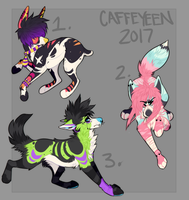Sparkle dog adopts (CLOSED) by Caffeyeen