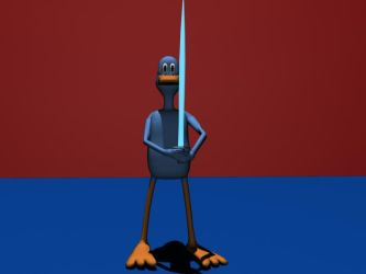 Duck with a Sword by MegaField64