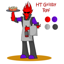 Hardtale: Grillby re-design by Void-Maker