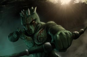 Argonian Bowman by Yacrical