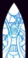 Doc Ock Stain Glass Pencil by nenuiel