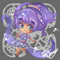 [CM +Speedpaint] Hime Chibi by usaRemy