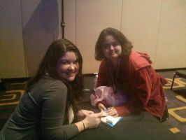 Me and Colleen Clinkenbeard  by DreamNotePrincess