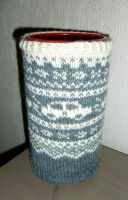 Grey fair-isle firelighter box cover by KnitLizzy
