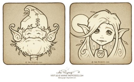 More of Mika's wee inkypic portraits by thePicSees