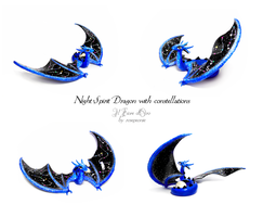 Night Spirit Dragon with constellations by rosepeonie