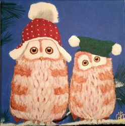 Owls in Hats by Morphicelus