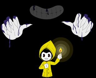 Bendy and The Little Nightmares by LuckyLadyXandra