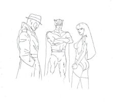 Watchmen drawing (only 3 characters) by electronicdave